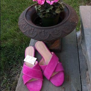 J. Crew Cora Fuschia sandals